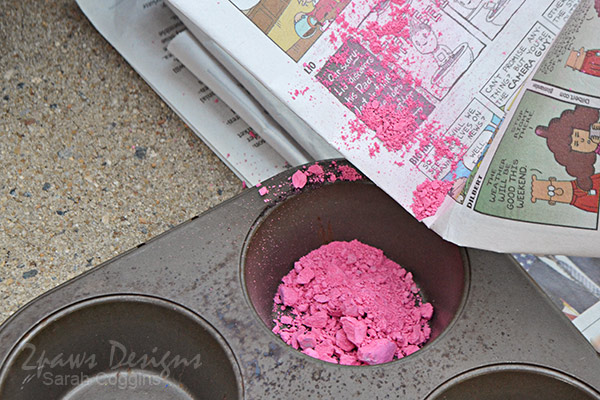 DIY Sidewalk Paint Crushed Chalk