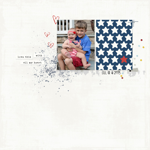 July 4th 2015: digital scrapbook page