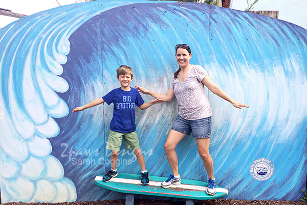 Carolina Beach Boardwalk: Surfing