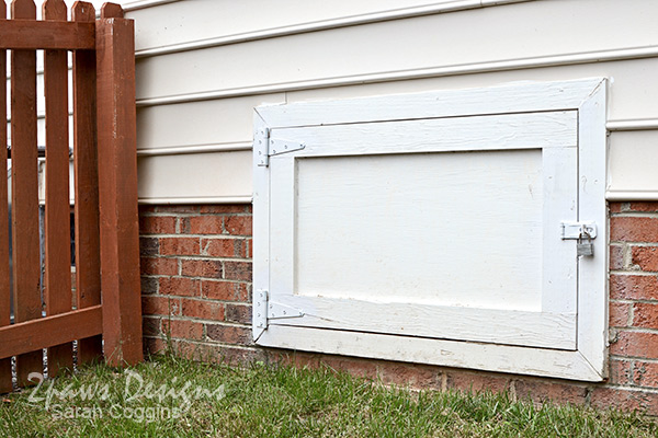Foreclosure to Home: Crawlspace Door Repairs #foreclosuretohome