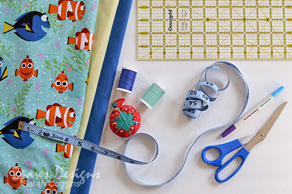 Finding Dory Pillowcase: Supplies