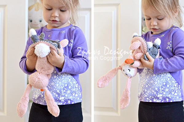 Topsy-Turvy Bunny and Lamb toy: flipping inside out