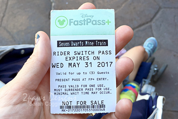 Seven Dwarfs Mine Train Child Swap Pass