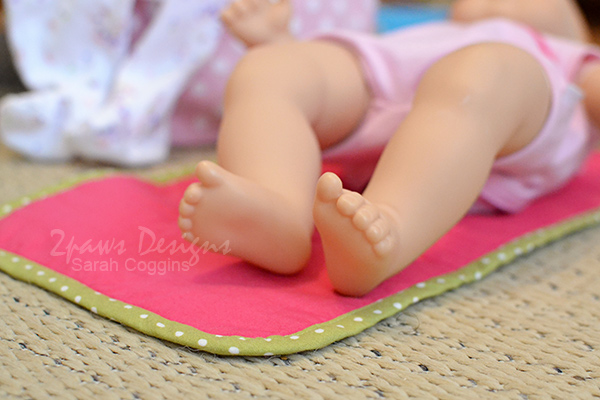 Baby Doll Changing Pad Tutorial