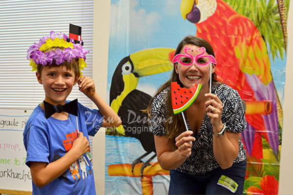 End of Year Party Photo Booth Fun