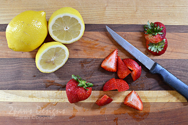 Slice Lemons and Strawberries