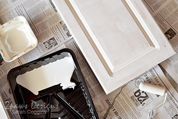 Kitchen: Cabinet Doors Painting - In Progress