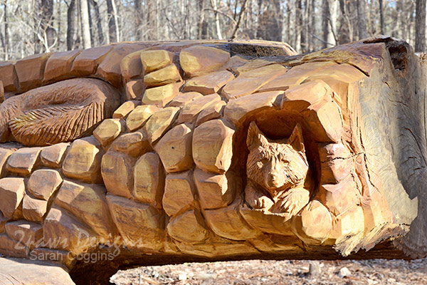 Umstead State Park Chainsaw Art: Detail