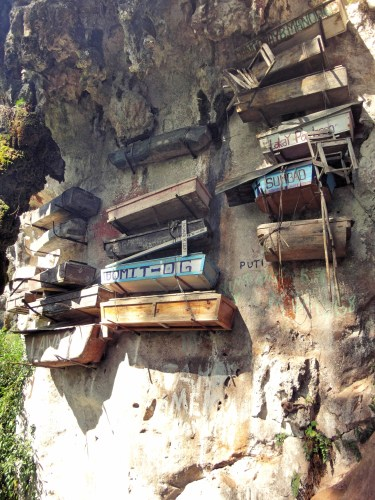 The hanging coffins of Sagada.