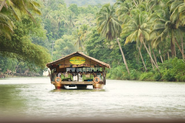 Lunch cruise on the Loboc River.