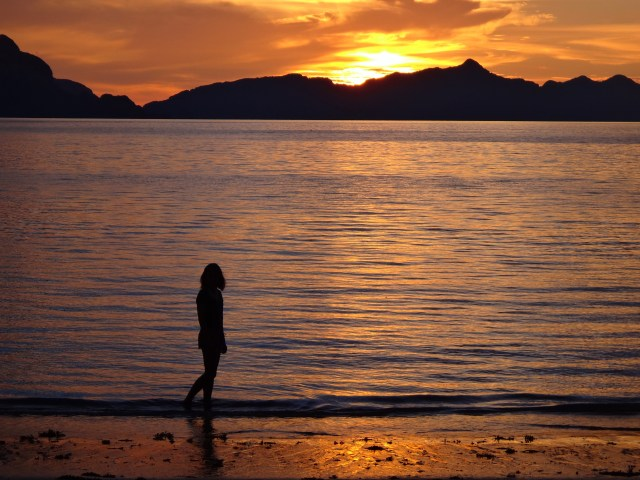 Sunset at Las Cabanas Beach.