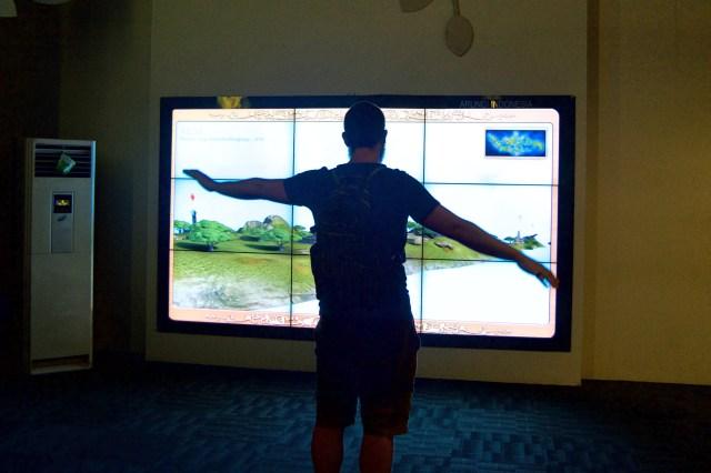 Chris virtually flying around Indonesia.