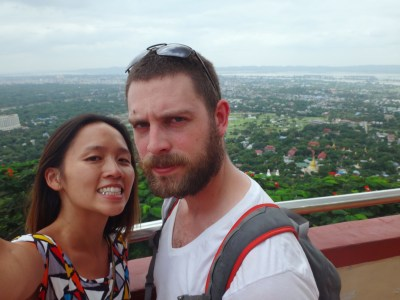 On top of Mandalay Hill.