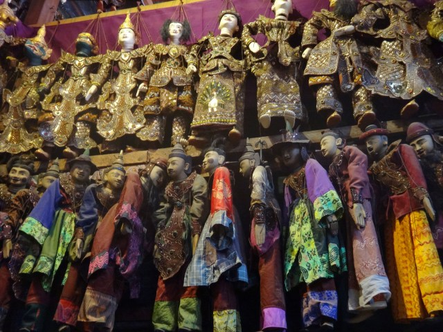 Marionettes for sale.