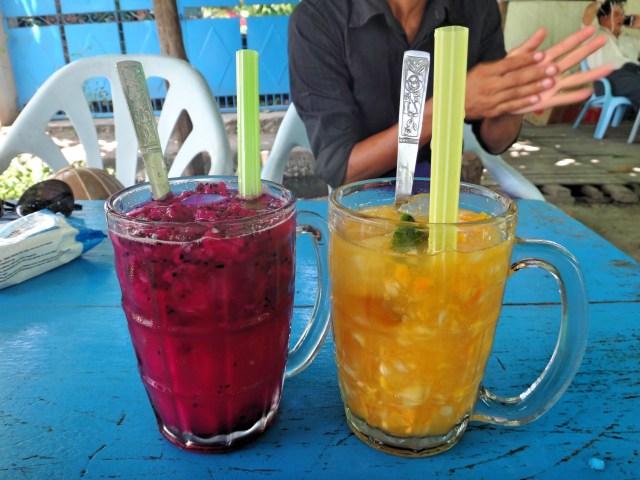 Freshly squeezed fruit juice.