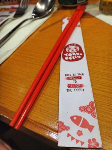 Very cute chopsticks.
