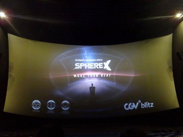 SphereX movie theatre.