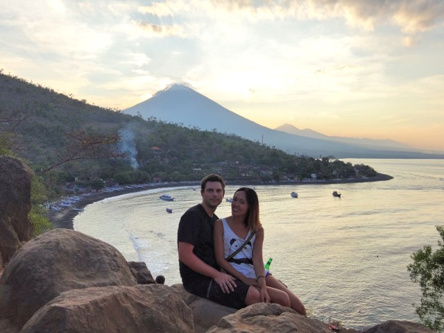Sunset over Mount Agung.