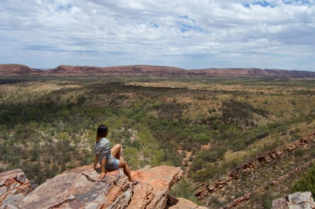 View of the MacDonnell Ranges.