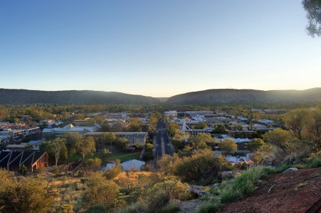 Sunset over Alice Springs.