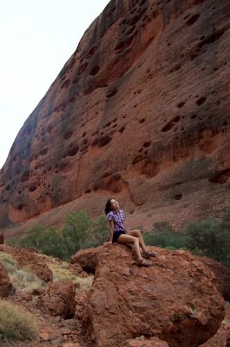 High cliff walls.