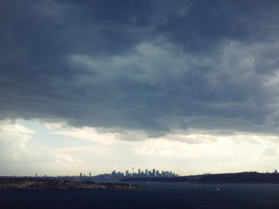 Storm over Sydney.