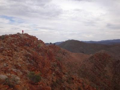 Chris on the Acacia Ridge summit.