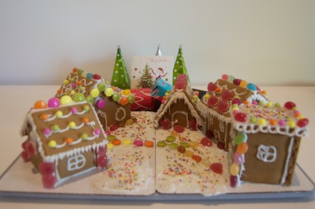 Our gingerbread village.