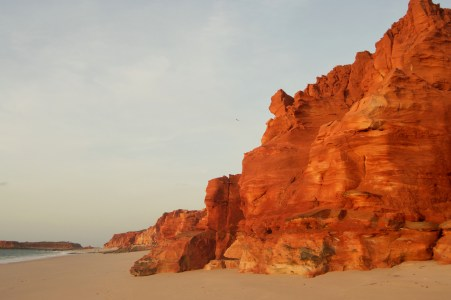 The red cliffs the campground sits atop of.