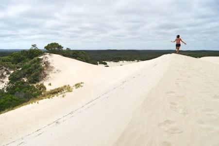 Dune walking.