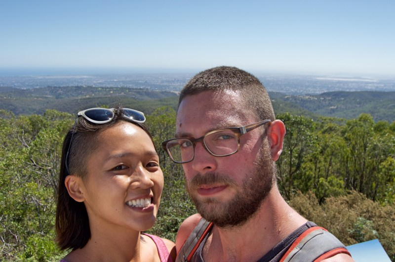 Atop Mount Lofty!