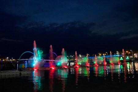 Opening night laser light show.