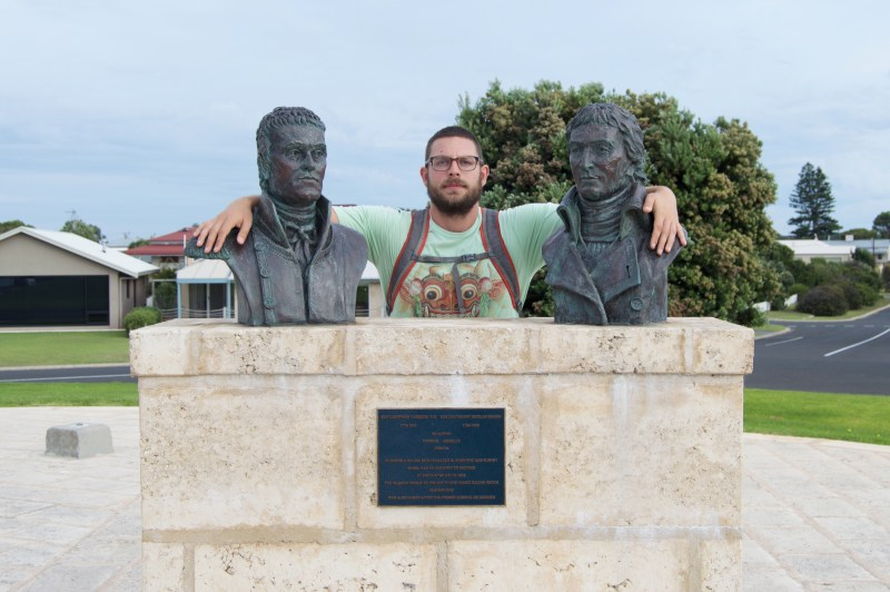 Christopher hanging with Flinders and Cooke.