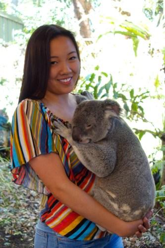 Maddie and koala.