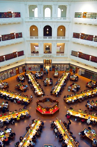 The reading room at the State Library.