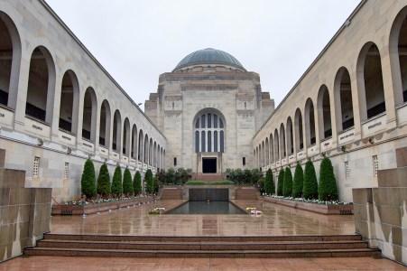 Inside the war memorial.