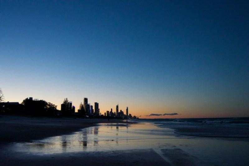 Gold Coast sunset.