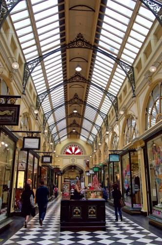 Cute shopping arcades abound.