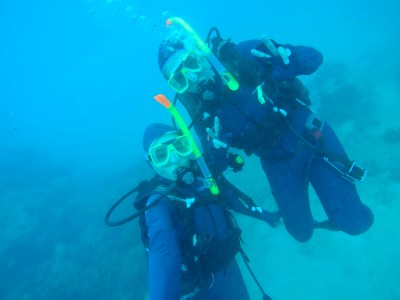 Jeff and I, the original dive buddies!
