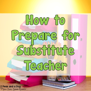 Preparing for a Substitute Teacher
