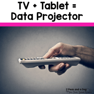 TV + Tablet = Data Projector