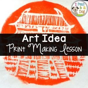 Styrofoam Print Making Art Lesson