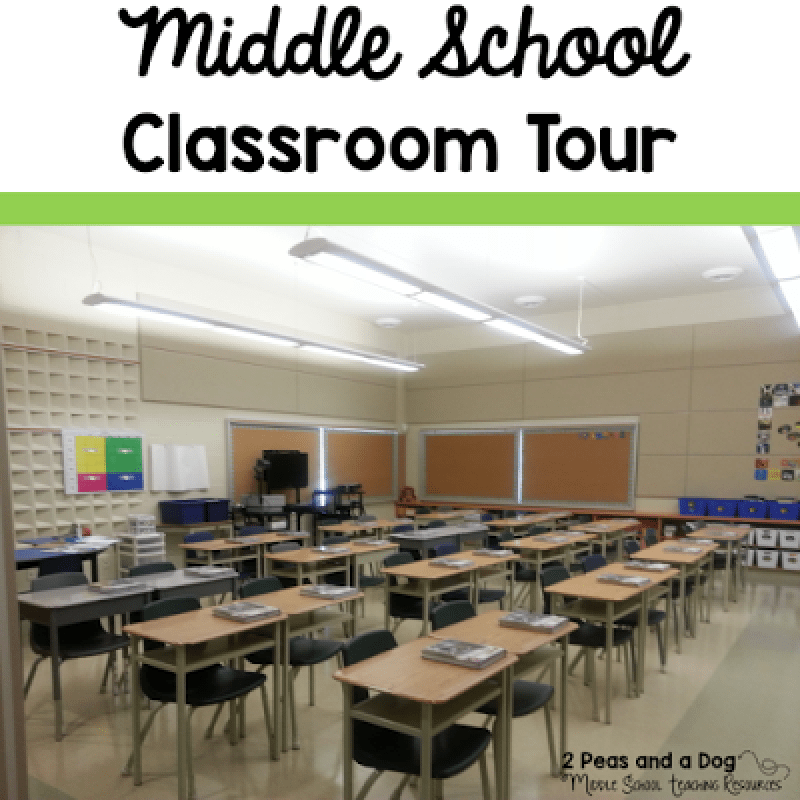 Great ideas, photos and advice for setting up a middle school classroom from the 2 Peas and a Dog blog.