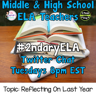 #2ndaryELA Twitter Chat Topic: Reflections On Last Year