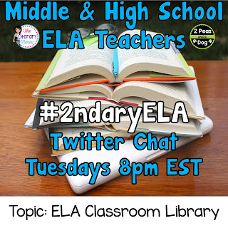#2ndaryELA Twitter Chat Topic: Classroom Libraries in the ELA Classroom