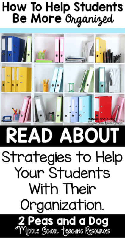Organization and executive functioning skills are essential to a student's success. Many students need additional support in these areas. Several easy to implement student organization strategies and tips are discussed in this blog post from 2 Peas and a Dog.