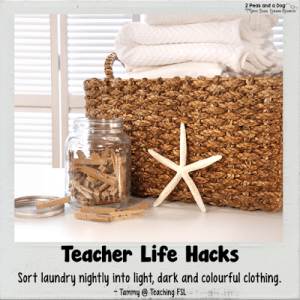 Teacher Life Hack Laundry Sorting