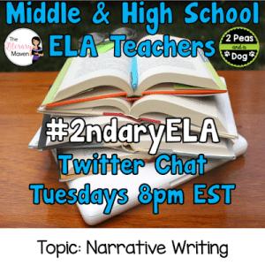 #2ndaryELA Twitter Chat on Tuesday 10/31 Topic: Narrative Writing