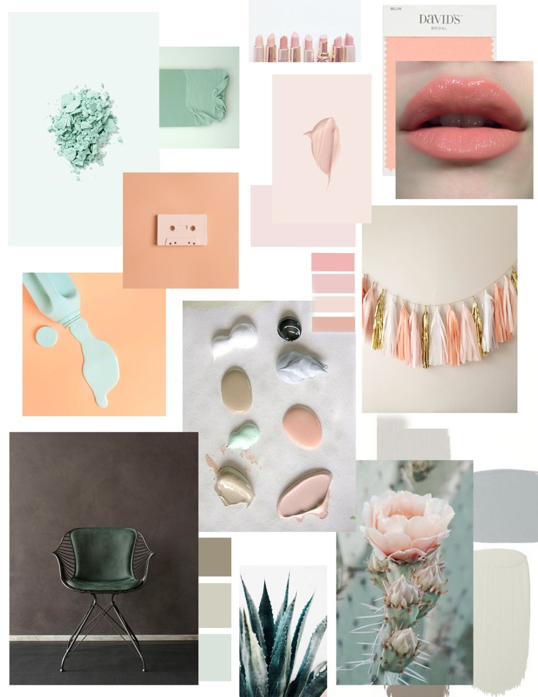 pale pastels mood board