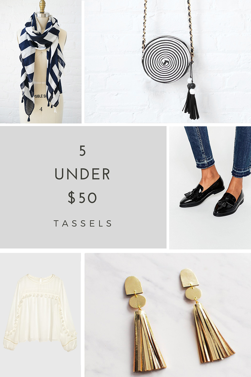 5 tassels products under $50